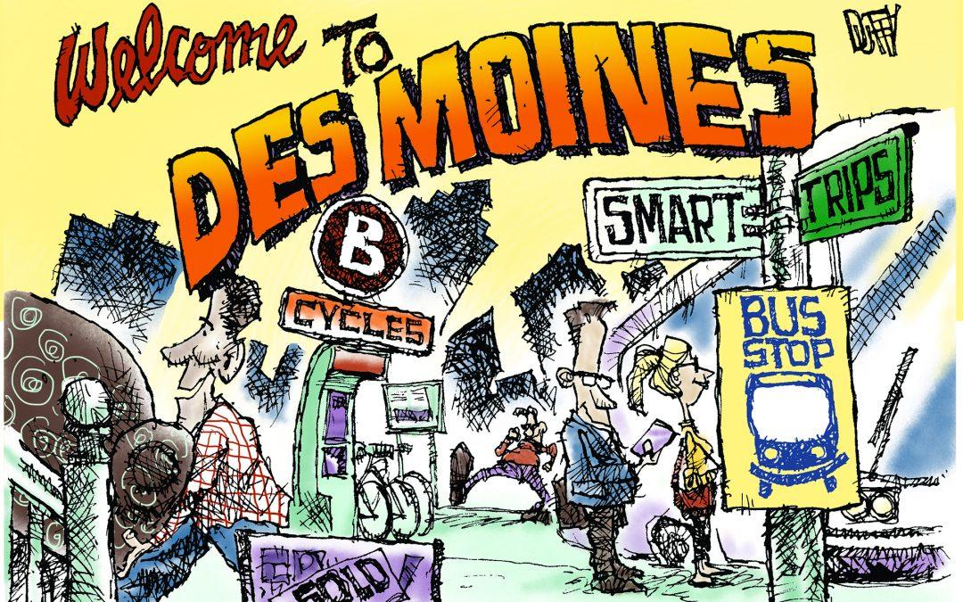 People moving to Des Moines choose transportation alternatives via marketing campaign