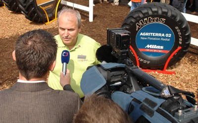 Tire manufacturer rolls into USA with public relations